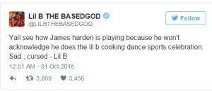 Lil B Harden Tweet