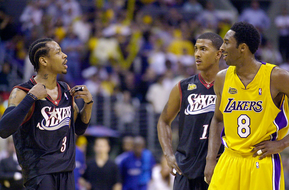 Kobe Bryant Has Nothing But Love for Allen Iverson ...