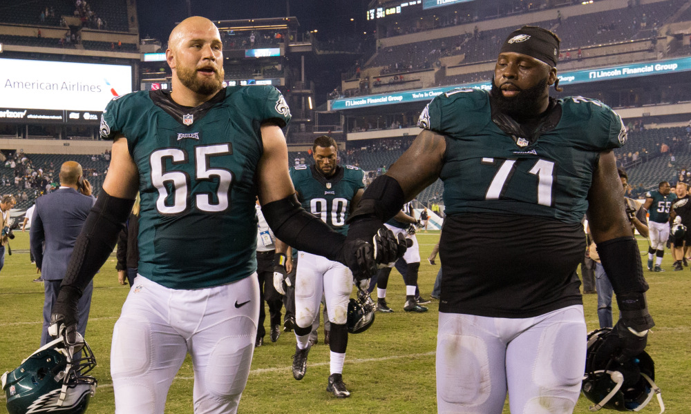 The eagles had a top 10 offensive line in the nfl according to pff