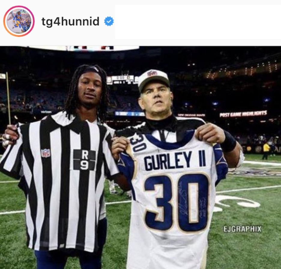 the latest a69d4 2b19d Mike Francesa really believed Todd Gurley and the ref ...