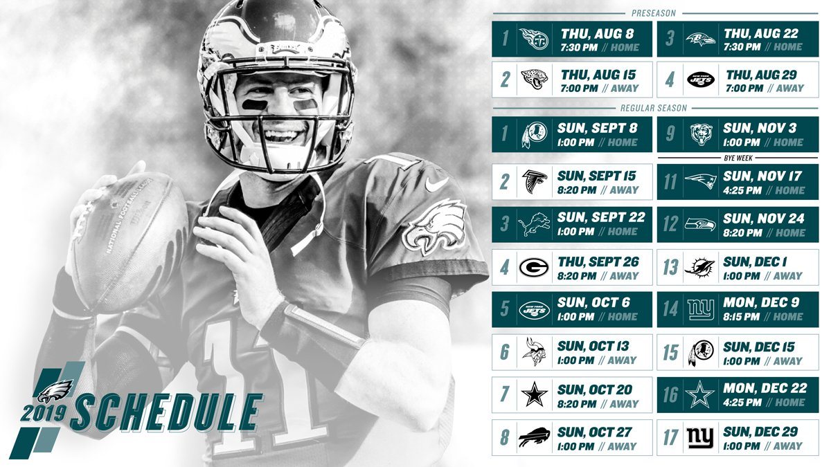 2019 Eagles Schedule Pi in 60: Thoughts on the 2019 Eagles schedule – PhillyInfluencer.com